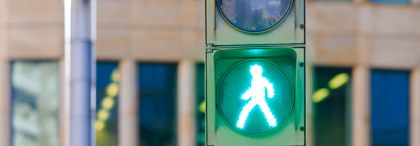 Pedestrians to Follow Traffic Signals